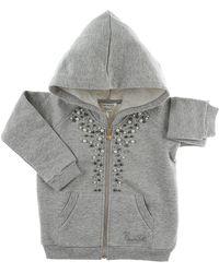 Twin Set Baby Sweatshirts & Hoodies For Girls On Sale - Gray