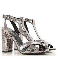 Twin Set Sandals For Women On Sale - Metallic