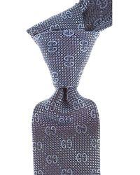 Gucci Cravates Pas cher en Soldes - Bleu