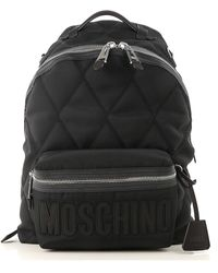 Moschino Backpack For Men - Black