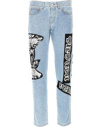 Versace Denim Jeans In Outlet - Blu