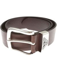 Emporio Armani Cinturones Baratos en Rebajas - Marrón