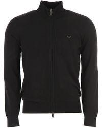 Emporio Armani Sweater For Men Sweater - Black