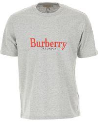 Burberry T-shirt Homme - Gris
