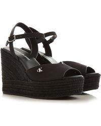 Calvin Klein Sandalen für Damen Günstig im Sale - Schwarz