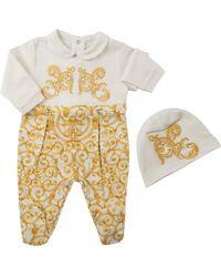 Versace Ensembles Bébé pour Fille Pas cher en Soldes - Blanc