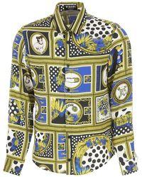 Versace Camicia Uomo In Outlet - Metallizzato