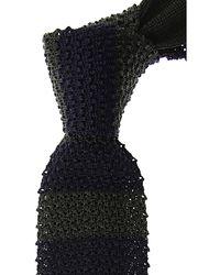 Ermenegildo Zegna Cravates Pas cher en Soldes - Noir