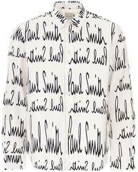 Paul Smith Camisa de Hombre Baratos en Rebajas - Blanco