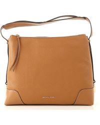 361857b19ff1 Lyst - Michael Kors Skorpios Large Woven Leather Shoulder Bag in Natural