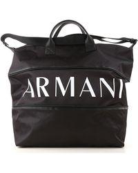 Armani Exchange Weekender Duffel Bag For Men On Sale - Black