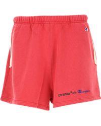 Off-White c/o Virgil Abloh - Shorts For Men On Sale In Outlet - Lyst