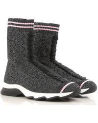 Fendi Zapatillas Deportivas de Mujer - Negro