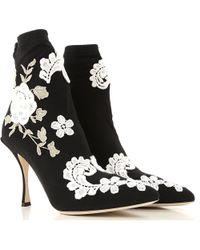 Dolce & Gabbana Botte Femme - Noir