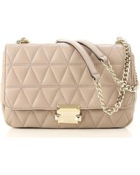 5ef08b0c778 Lyst - Michael Kors Gia Small Chain Bag in Natural