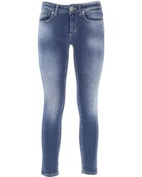 Dondup Denim Jeans In Saldo - Blu