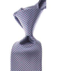 Lanvin Cravates Pas cher en Soldes - Bleu