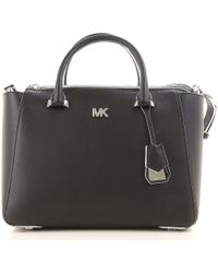bed900b854b54c Lyst - Michael Kors Large Scarlett Quilted Tote Bag in Black