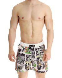 DIESEL Swim Shorts Trunks for Men In Outlet - Bianco