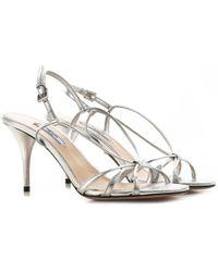 Prada Sandals For Women - Metallic