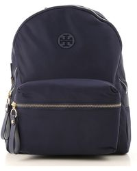 c96492677f2d Lyst - Tory Burch Robinson Basket Weave Backpack in Blue