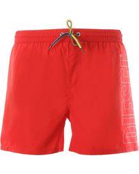 DIESEL Swim Shorts Trunks for Men In Outlet - Verde