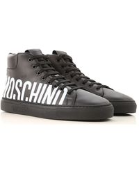 Moschino High-Top-Sneakers mit Logo - Schwarz