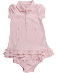 Ralph Lauren - Baby Dress For Girls On Sale - Lyst