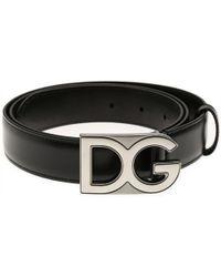 Dolce & Gabbana Belts For Men - Black