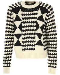 Saint Laurent Sweater For Men Sweater On Sale In Outlet - White