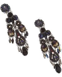 Ayala Bar Earrings For Women - Black