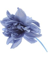 Erika Cavallini Semi Couture Brooch And Pin For Women - Blue