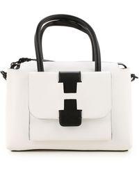 Hogan Top Handle Handbag - White