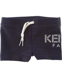 2a0f8bcd Lyst - Kenzo Stone Wash Shorts in Blue for Men
