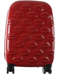 Lulu Guinness - Small Lips Hardside Spinner Cabin Case - Lyst