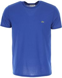 Lacoste T-Shirt Uomo In Saldo - Blu