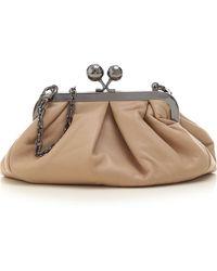 Max Mara Clutch Bag - Natural