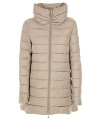 newest collection 94ef1 ddfa4 Save The Duck Synthetic Round Neck Puffer Jacket in Green - Lyst