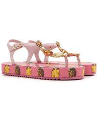 Dolce & Gabbana Sandali Donna In Outlet - Rosa
