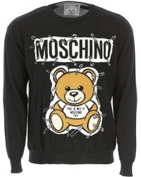 Moschino - Black Teddy Bear Embroidered Pullover - Lyst