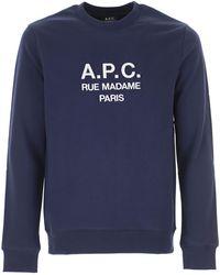 A.P.C. Sweatshirt For Men - Blue