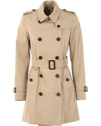 a37f584a8b6 Lyst - Burberry Harlington Hooded Coat in Green