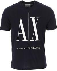 Armani Exchange T-shirt Homme Pas cher en Soldes - Bleu