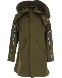 Versace Cappotto Uomo In Outlet - Verde