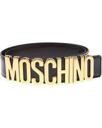 Moschino Cinturones para Mujer - Negro