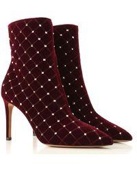 Valentino Valentino Garavani Rockstud Spike Court Boot - Red