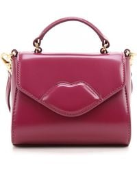 7958c8aa51 Lulu Guinness Pale Pink Polished Leather Small Izzy in Pink - Lyst