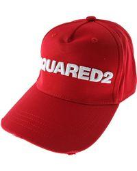 DSquared² Cappello Uomo In Saldo - Rosso