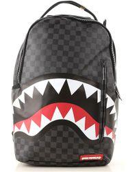 Sprayground - Black Checkered Shark In Paris Backpack - Lyst