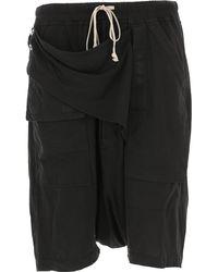 Rick Owens Drkshdw Shorts For Men On Sale In Outlet - Black